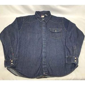 Levi's red tab western mens shirt w/ pearl buttons